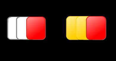 Tarjetas de Fútbol Blancas o Amarillas y Rojas